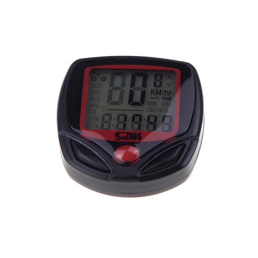 Sunding SD-548B 多機能 自転車用 サイクルコンピューター スピード 最高 平均スピード 距離 オドメーター トリップメーター 時間_画像2