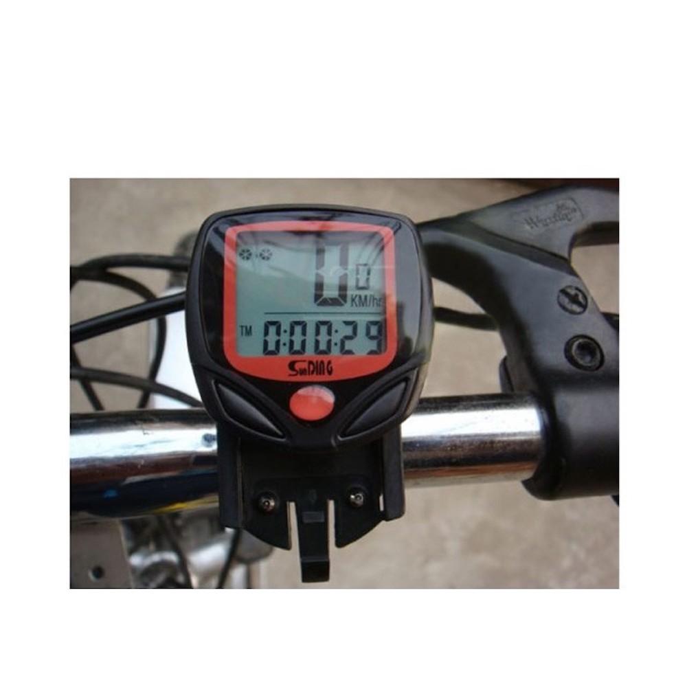 Sunding SD-548B 多機能 自転車用 サイクルコンピューター スピード 最高 平均スピード 距離 オドメーター トリップメーター 時間_画像3