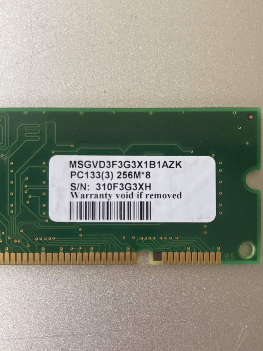 VDATA PC133 CL2.5 256MB RAM メモリー MSGVD3F3G3X1B1AZK 動作確認済み_画像4