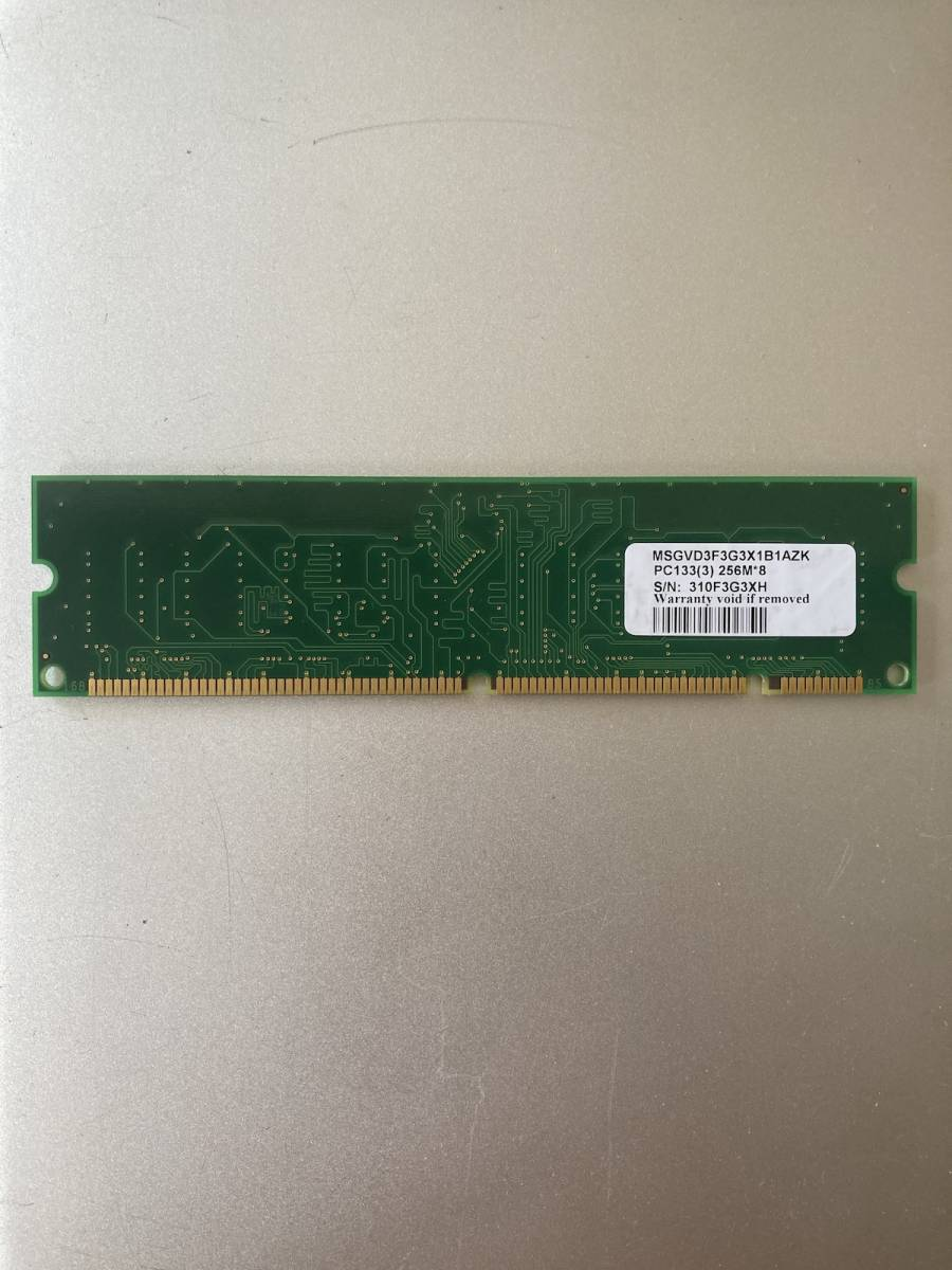 VDATA PC133 CL2.5 256MB RAM メモリー MSGVD3F3G3X1B1AZK 動作確認済み_画像3