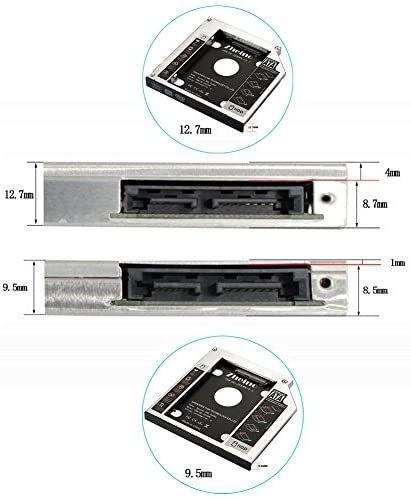 Zheino 2nd 12.7mmノートPCドライブマウンタ セカンド 光学ドライブベイ用 SATA/HDDマウンタよりCD/DVD CD ROM HDD CADDY に置き換えます_画像6