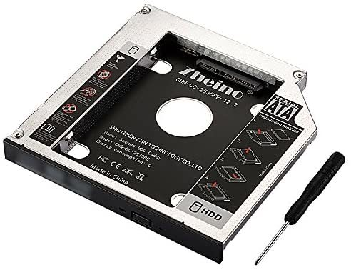 Zheino 2nd 12.7mmノートPCドライブマウンタ セカンド 光学ドライブベイ用 SATA/HDDマウンタよりCD/DVD CD ROM HDD CADDY に置き換えます_画像1