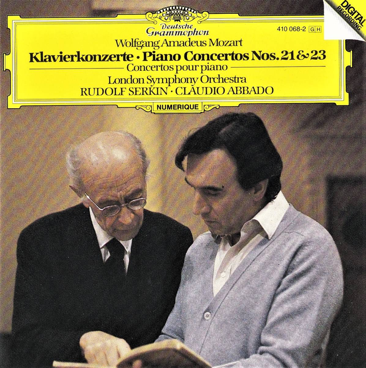廃盤超希少 初期西独盤 ルドルフ・ゼルキン クラウディオ・アバド ロンドン交響楽団 モーツアルト ピアノ協奏曲 第21番 第23番_画像1
