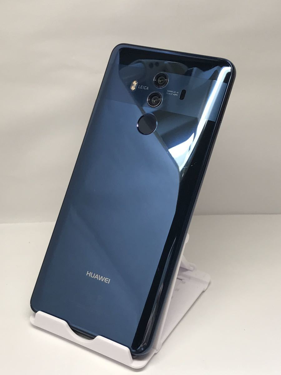 163 SIMフリー HUAWEI Mate10 Pro BLA-L29 ミッドナイトブルー Android10 128GB ケース・フィルム付き_画像1