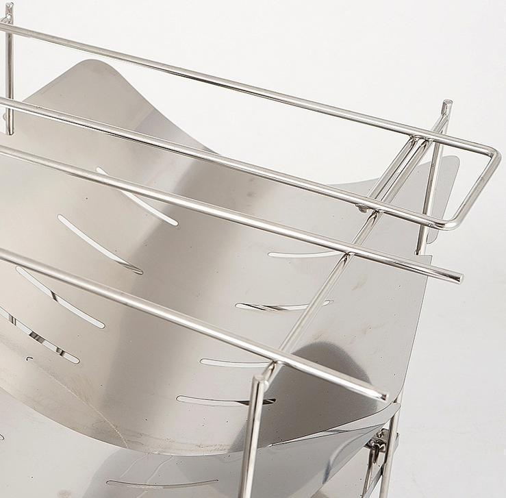 軽量 焚き火台 折り畳み式 ステンレス製 焚火台 バーベキューコンロ A4 収納ポーチ付 約739g 2020年最新モデル 灰受け皿付