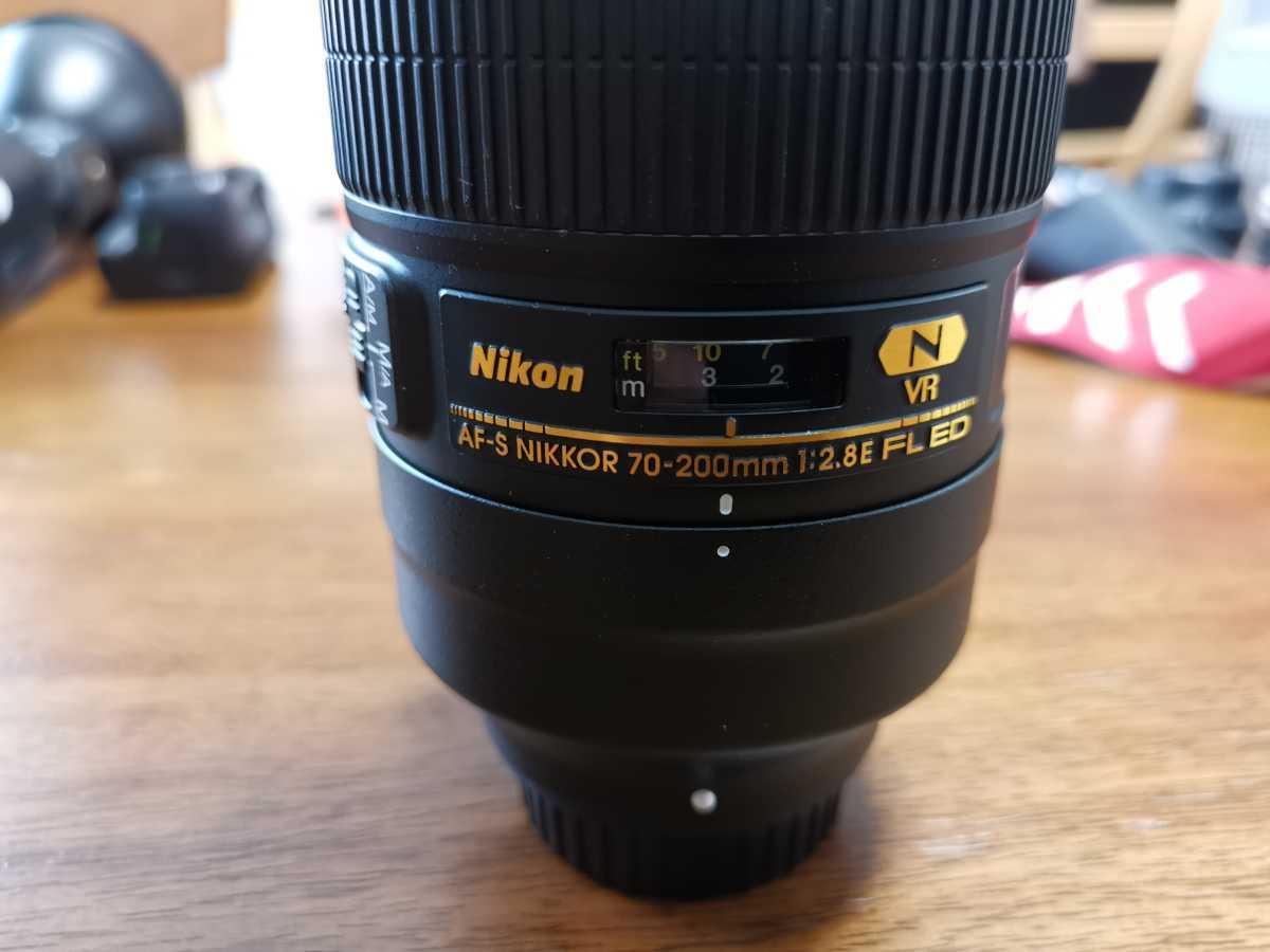 ニコン Nikon AF-S NIKKOR 70-200mm f/2.8E FL FD VR 中古美品 フィルター付別途新品高級フィルター付 純正フードハット 低使用頻度品