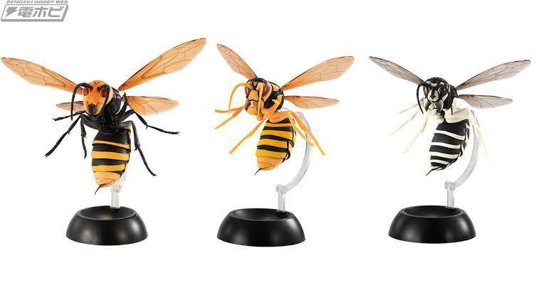 バンダイ スズメバチ ガチャ 全3種類 オオスズメバチ キイロスズメバチ クロスズメバチ すずめばち_画像2