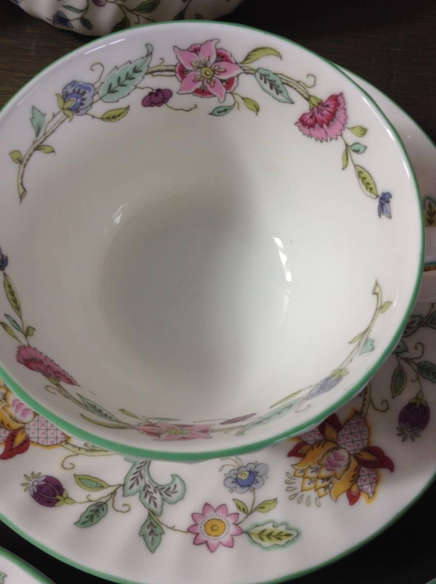 豪華 MINTON ミントン ハドンホール 花柄 食器 まとめて 15点 セット 5種 HADDON HALL カップ シュガーポット プレート_画像4
