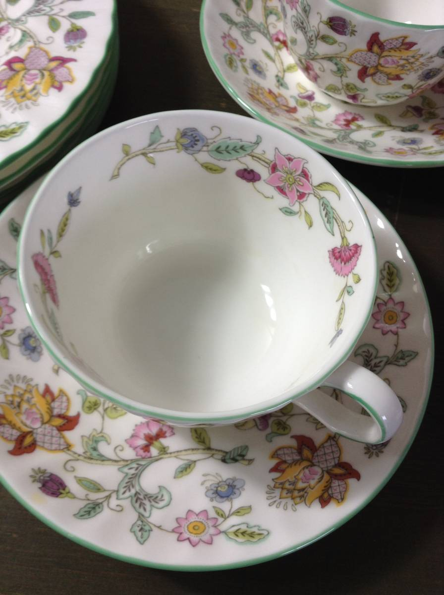 豪華 MINTON ミントン ハドンホール 花柄 食器 まとめて 15点 セット 5種 HADDON HALL カップ シュガーポット プレート_画像2
