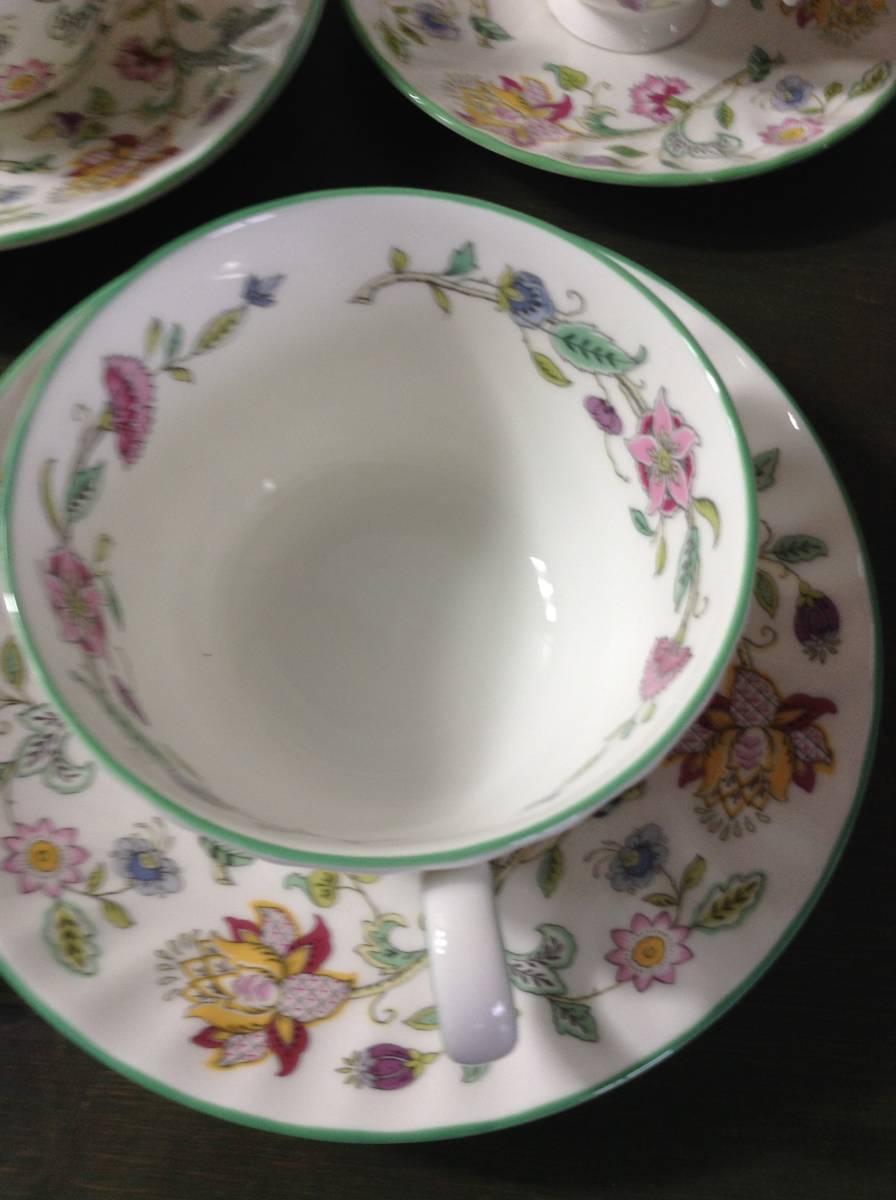 豪華 MINTON ミントン ハドンホール 花柄 食器 まとめて 15点 セット 5種 HADDON HALL カップ シュガーポット プレート_画像3
