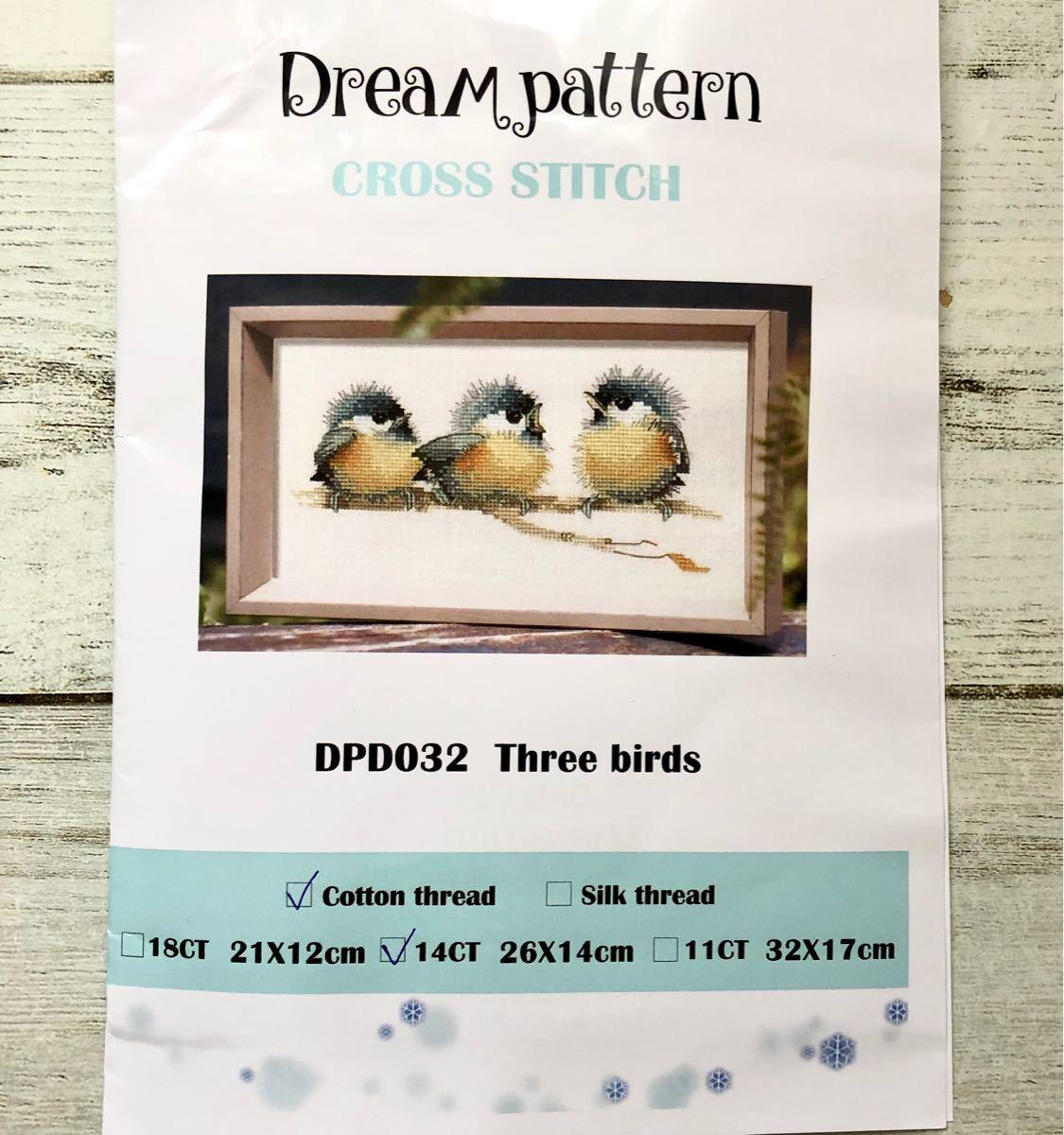 クロスステッチ 刺繍キット 小鳥