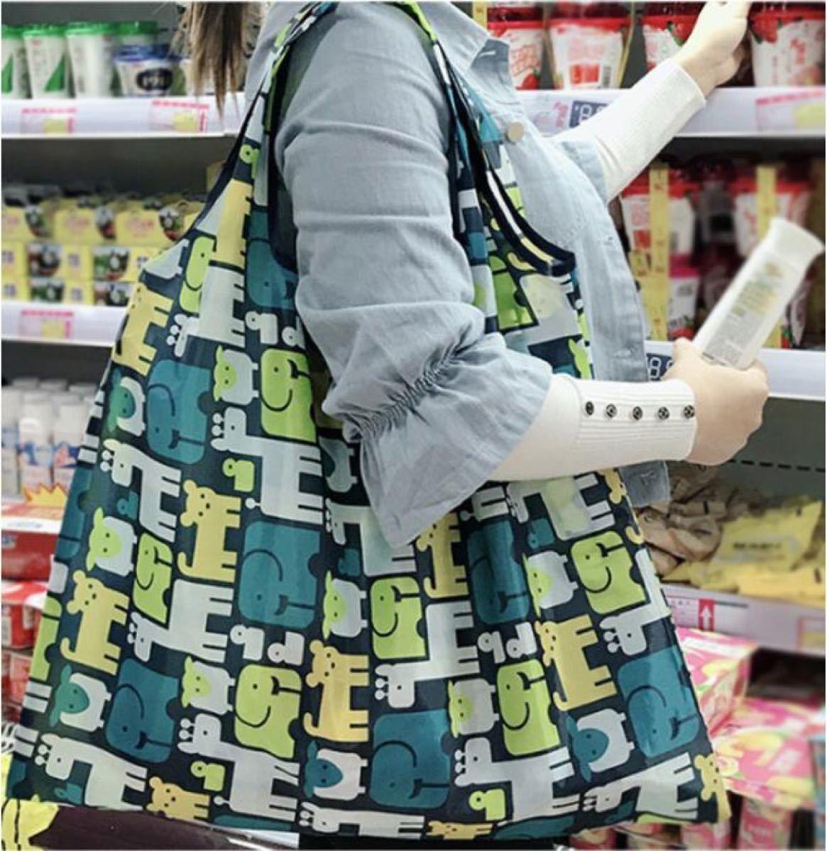 エコバッグ バッグ レジバッグ 折りたたみ レジカゴ 大容量 かわいい