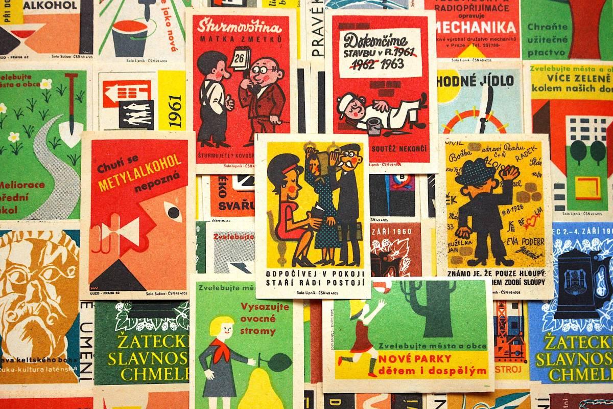 チェコの古いマッチラベル30枚セット02/アンティーク ヴィンテージ ヨーロッパ チェコ雑貨 紙モノ 東欧雑貨 ラッピング コラージュ ラベル/