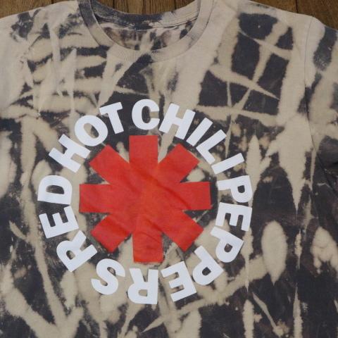 RED HOT CHILI PEPPERS Tシャツ ブリーチ 半袖 ロゴ レッドホットチリペッパーズ レッチリ RHCP オフィシャル バンド ロック_画像1