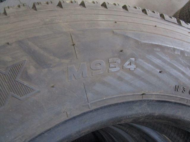 送料無料 スタッドレス 205/80R17.5 TOYO M934 2015年製 12ミリ 3トン 17.5×6.00 127-9 6穴 両面再塗装 6本セット_画像8