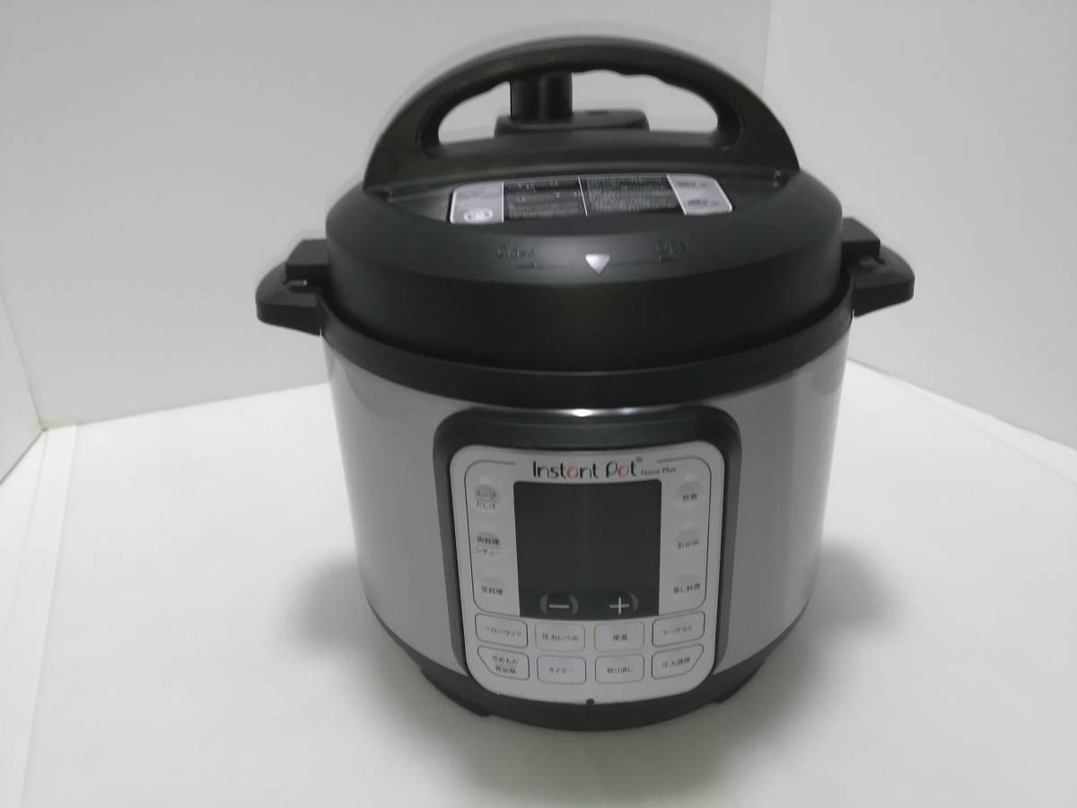 【未使用】【送料込】マルチ電気圧力鍋 Instant Pot(インスタントポット) 1台7役 Nova Plus Mini 3.0L ブラック
