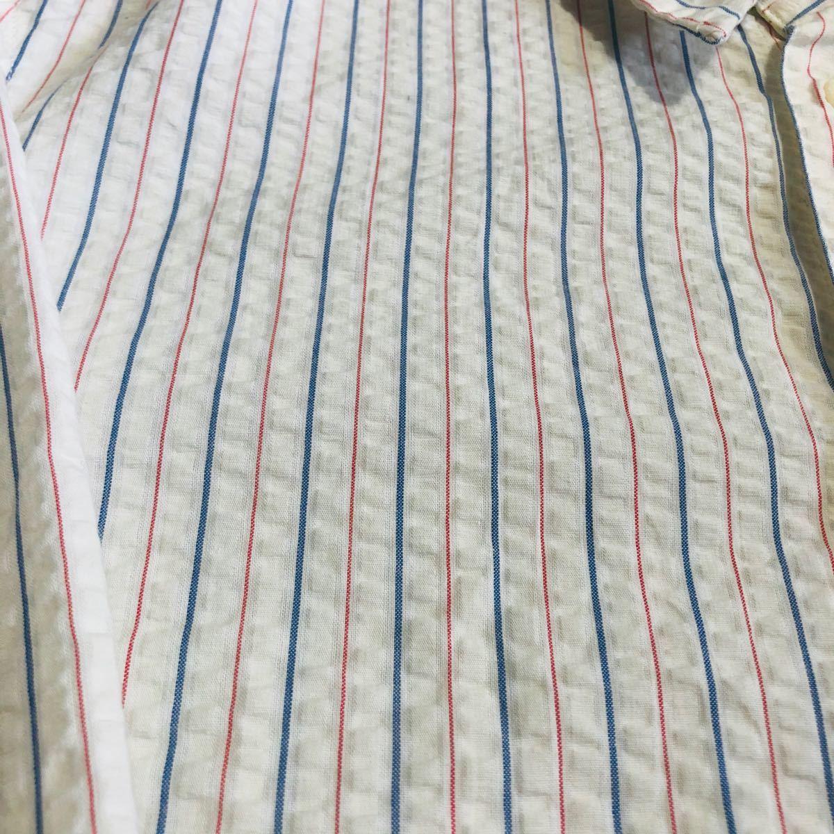 DIESEL ディーゼル 長袖 ストライプシャツ  シャツ バックロゴ
