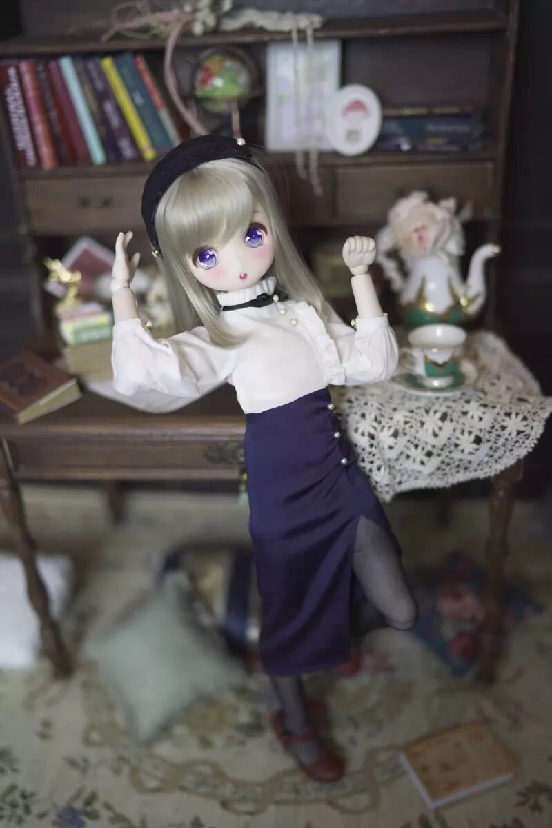 BJDドール用衣装セット MDDサイズ 球体関節人形 doll 洋服 女用_長いスカート