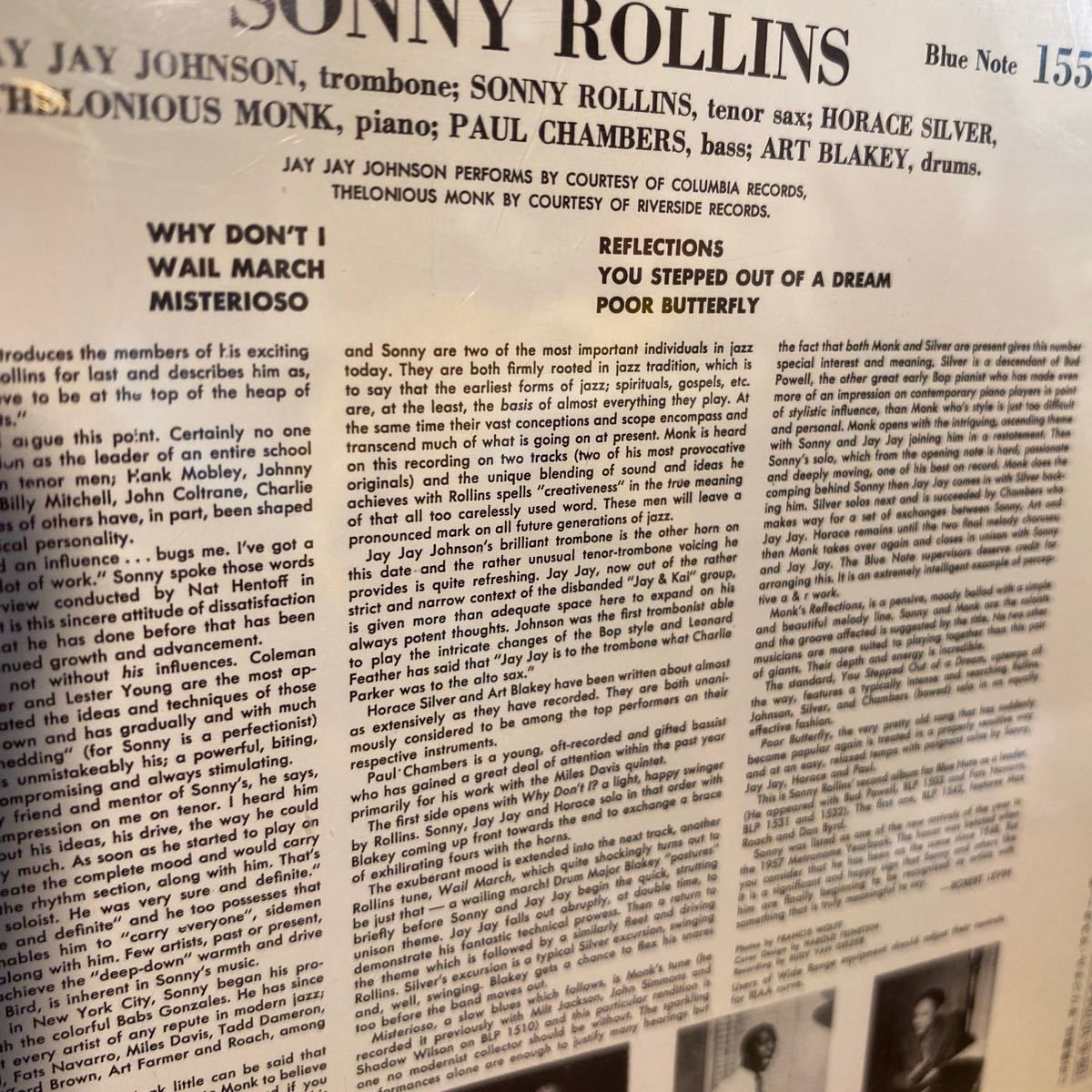 SONNY ROLLINS . vol.2 . BLUE NOTE 1558 輸入盤 _画像7