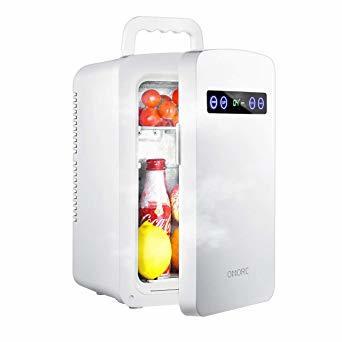 ホワイト 10L OMORC 保冷庫 冷蔵庫 小型 冷温庫 10L ミニ冷蔵庫 -9℃~60℃ 保温・保冷両用 保冷ボックス お_画像1