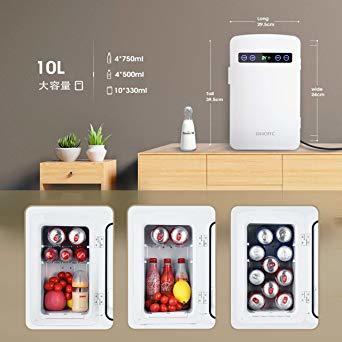 ホワイト 10L OMORC 保冷庫 冷蔵庫 小型 冷温庫 10L ミニ冷蔵庫 -9℃~60℃ 保温・保冷両用 保冷ボックス お_画像3