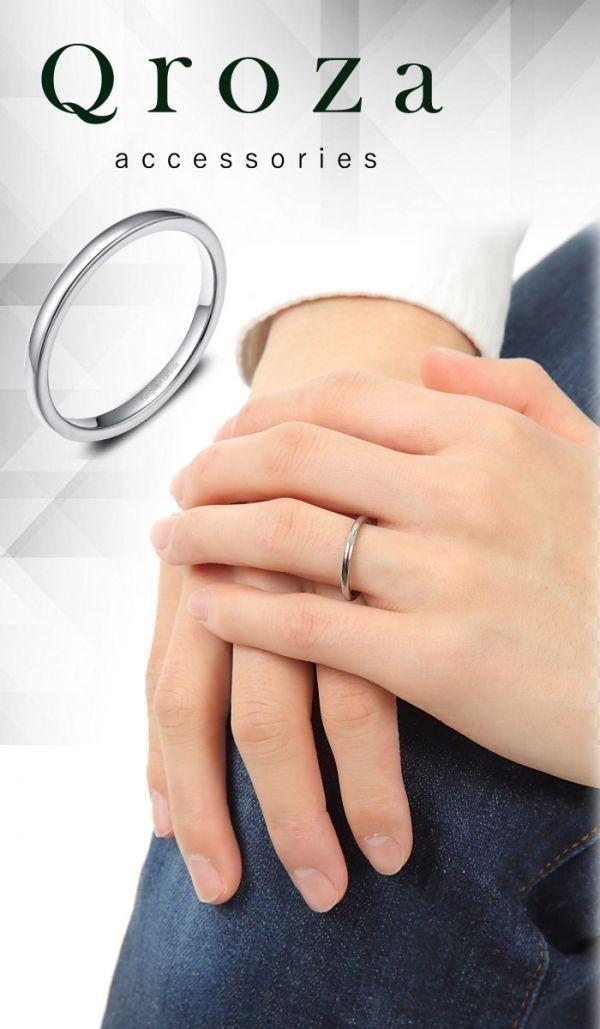 指輪 メンズ リング 2mm タングステン ニッケルフリー 金属アレルギー対応 シルバー マリッジ ピンキーリング【21号】_画像8