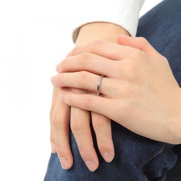 指輪 メンズ リング 2mm タングステン ニッケルフリー 金属アレルギー対応 シルバー マリッジ ピンキーリング【21号】_画像3