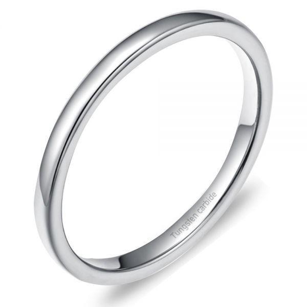 指輪 メンズ リング 2mm タングステン ニッケルフリー 金属アレルギー対応 シルバー マリッジ ピンキーリング【21号】_画像1