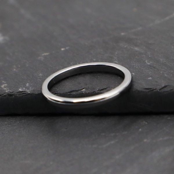 指輪 メンズ リング 2mm タングステン ニッケルフリー 金属アレルギー対応 シルバー マリッジ ピンキーリング【21号】_画像6