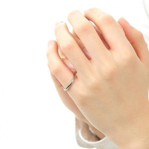 指輪 メンズ リング 2mm タングステン ニッケルフリー 金属アレルギー対応 シルバー マリッジ ピンキーリング【21号】_画像4