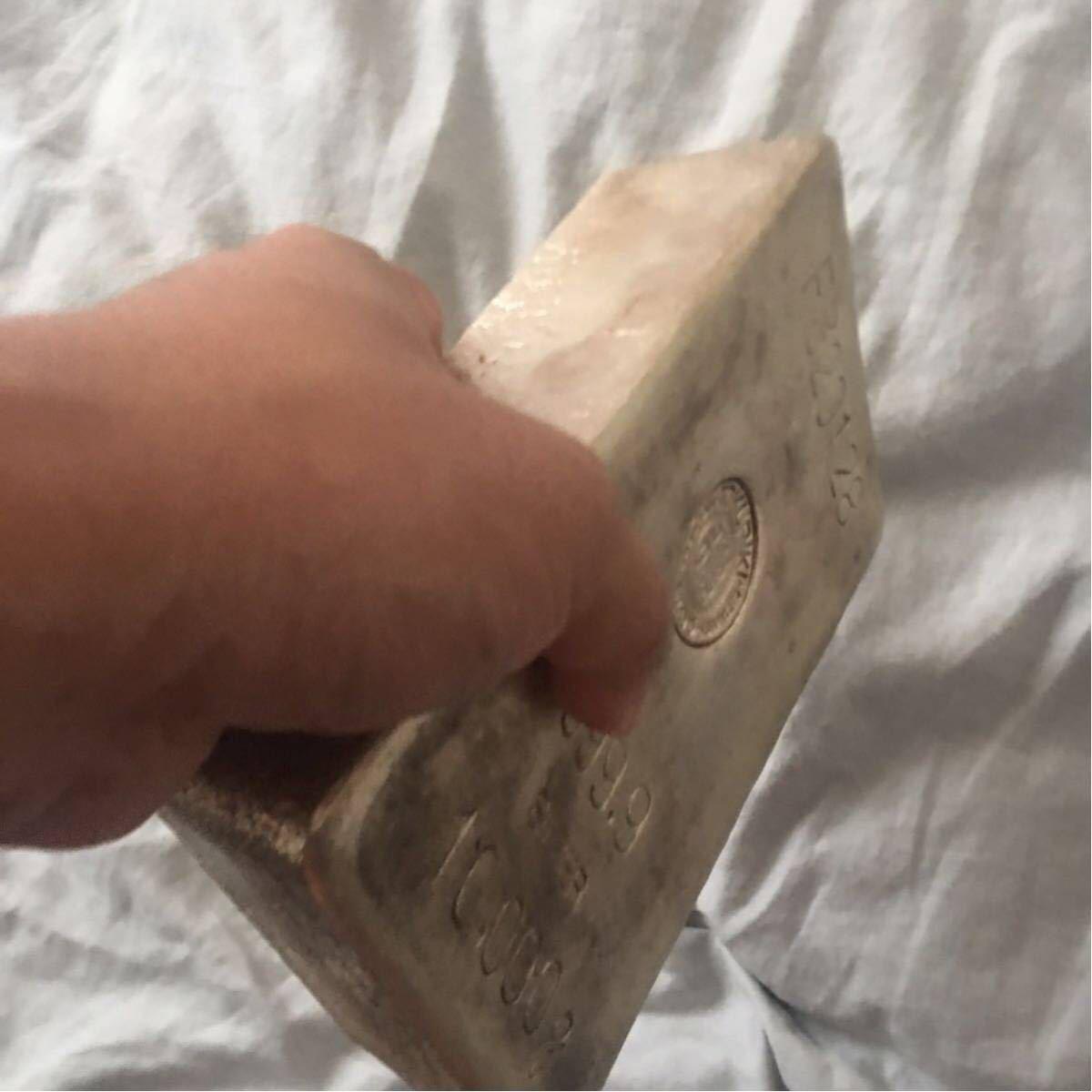 激レア本物保証 徳力本店 純銀 インゴット 銀地金 10kg 銀 銀貨 シルバー 999.9 10Kg 世界最高純度silver ingot アンティーク銀塊_画像4