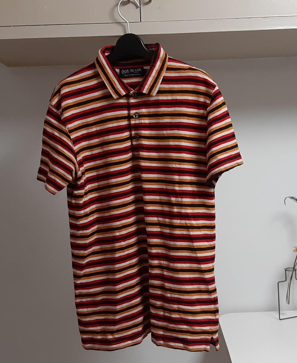 ボーダー柄 半袖シャツ 半袖 BEAMS ポロシャツ
