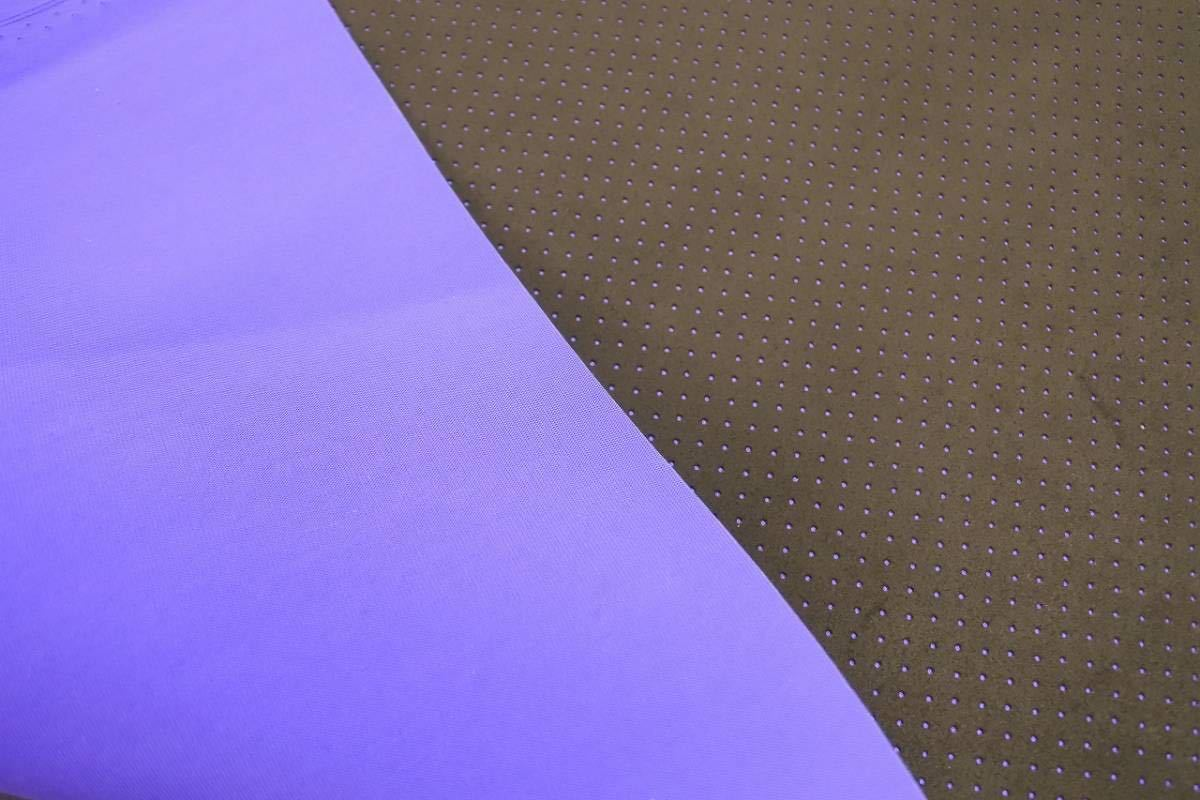東レ 旧アルカンターラ 車両用 パンチング ブラック 裏生地ブルー 切り売り 0.5m~ ウルトラスウェード ultrasuede_出品商品 裏面