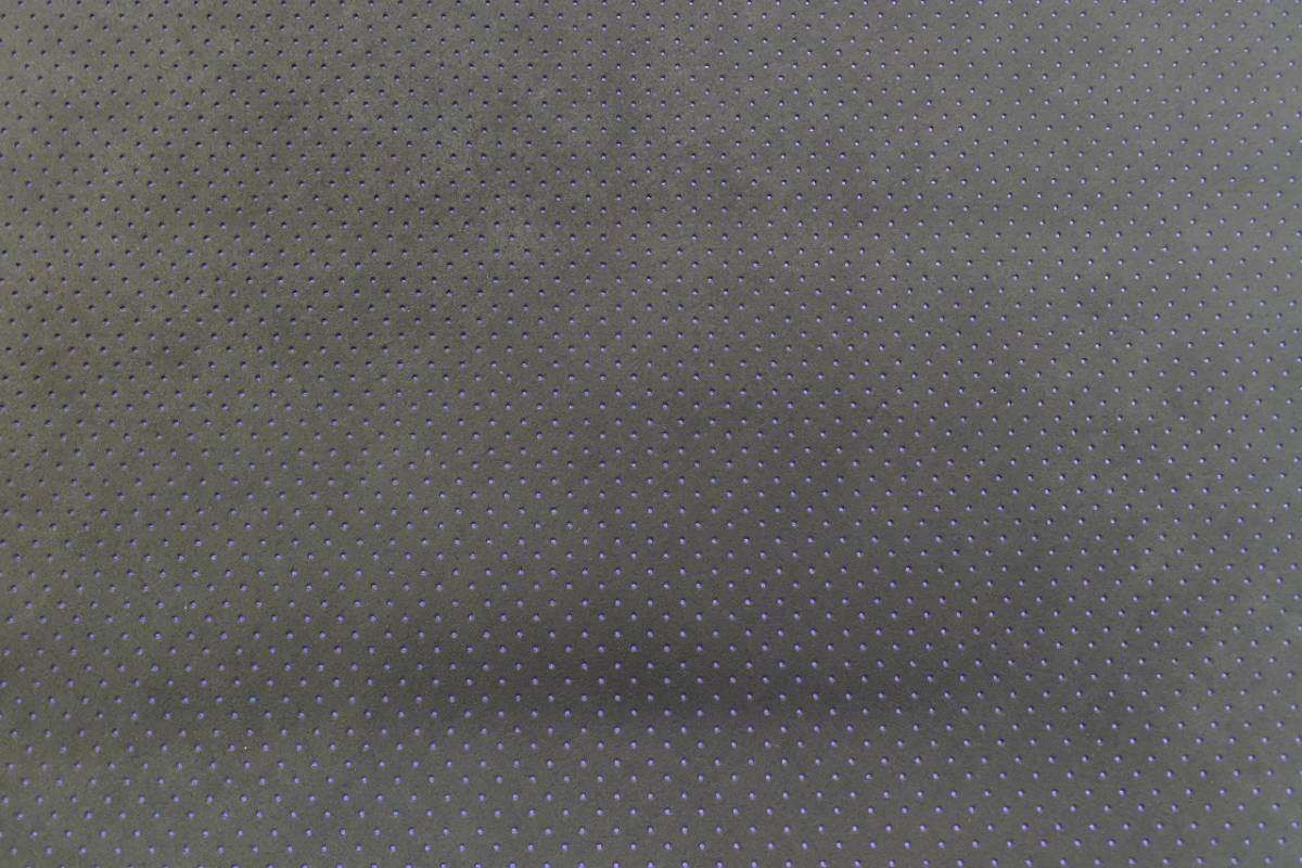 東レ 旧アルカンターラ 車両用 パンチング ブラック 裏生地ブルー 切り売り 0.5m~ ウルトラスウェード ultrasuede_出品商品