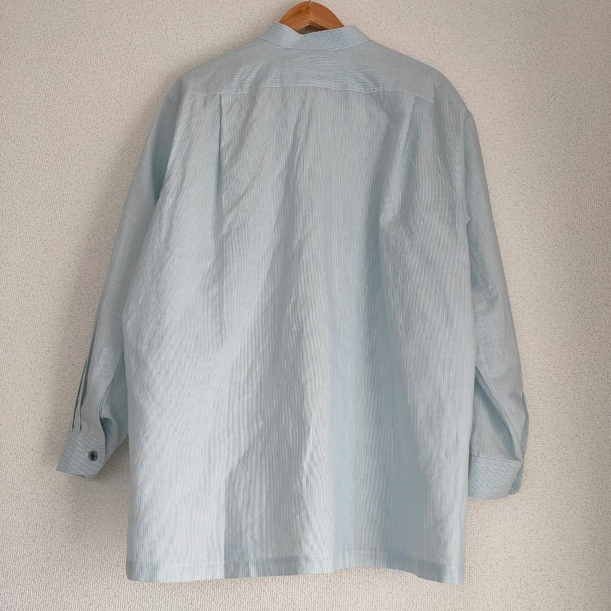 バンドカラーシャツ メンズ ストライプ