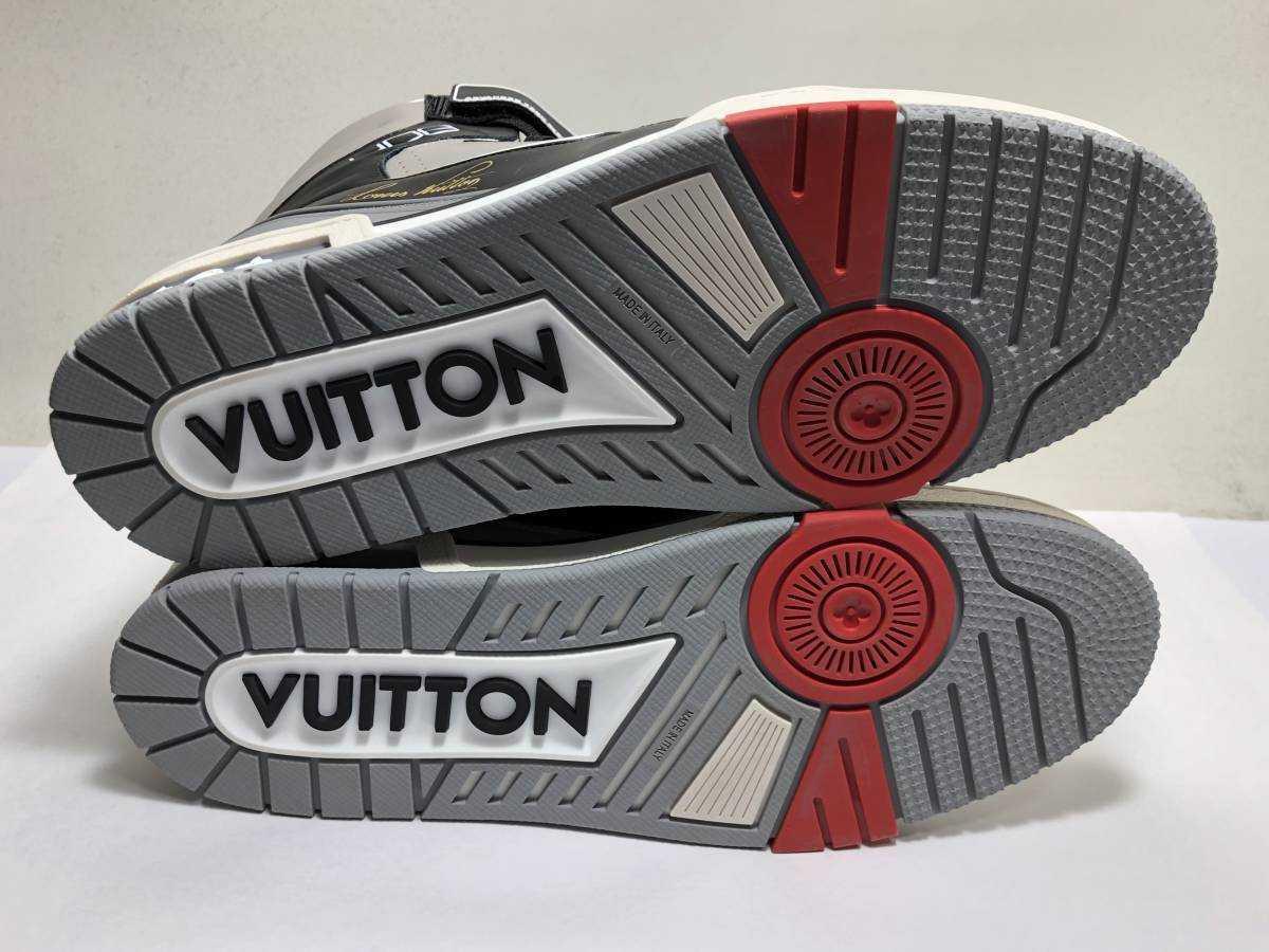 新品 LOUIS VUITTON ルイヴィトン 19ss VIRGIL ABLOH ヴァージルアブロー LVトレイナー ライン スニーカー 8 27cm 1A54IS 靴_画像8