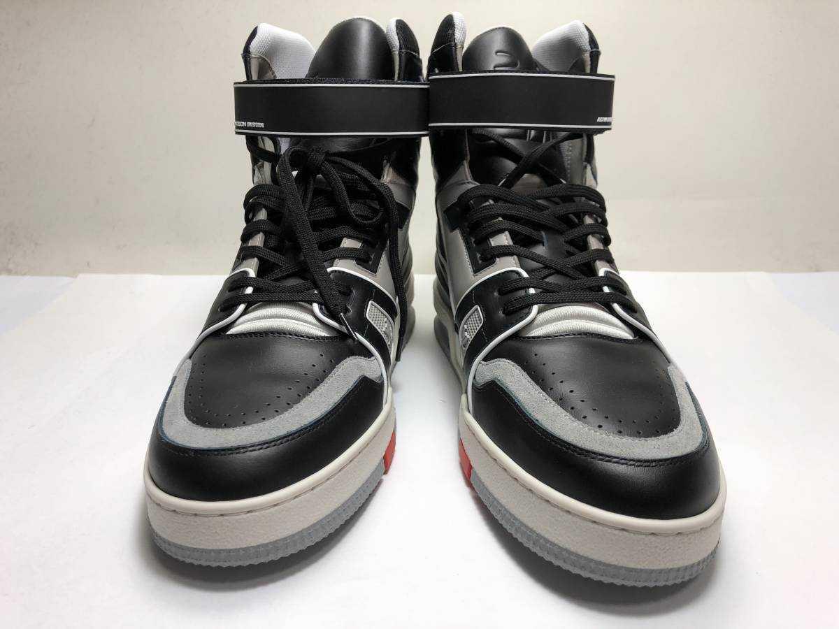 新品 LOUIS VUITTON ルイヴィトン 19ss VIRGIL ABLOH ヴァージルアブロー LVトレイナー ライン スニーカー 8 27cm 1A54IS 靴_画像2