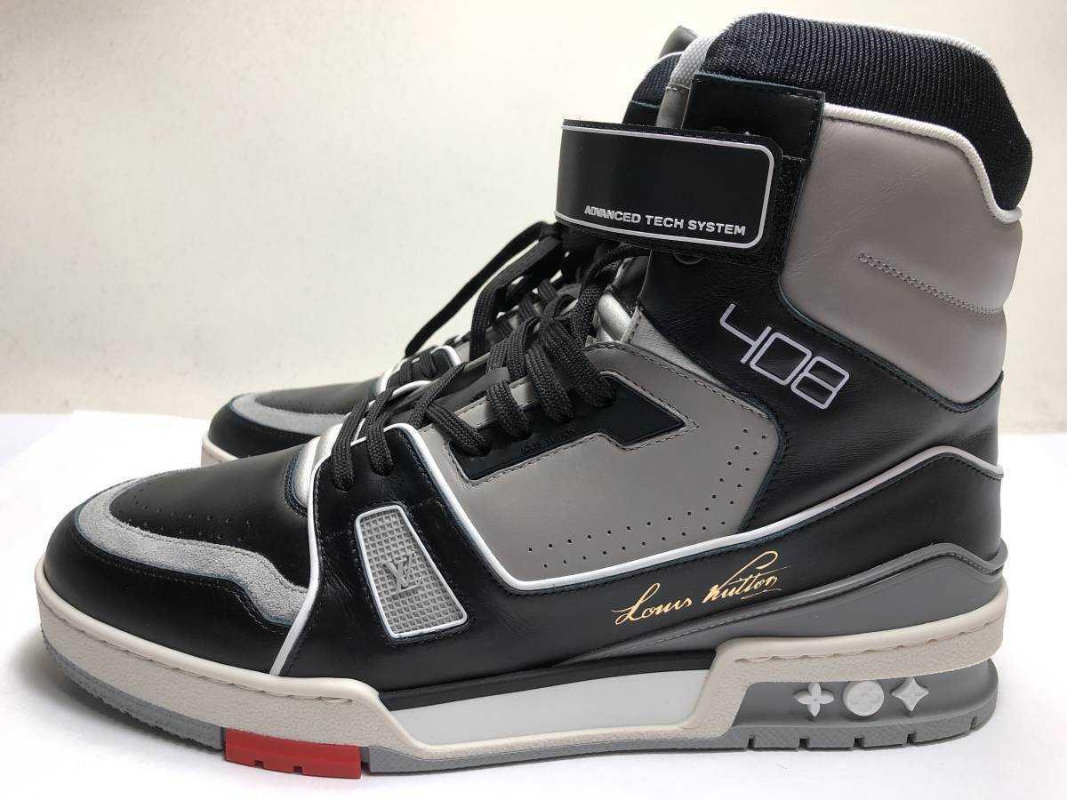 新品 LOUIS VUITTON ルイヴィトン 19ss VIRGIL ABLOH ヴァージルアブロー LVトレイナー ライン スニーカー 8 27cm 1A54IS 靴_画像1