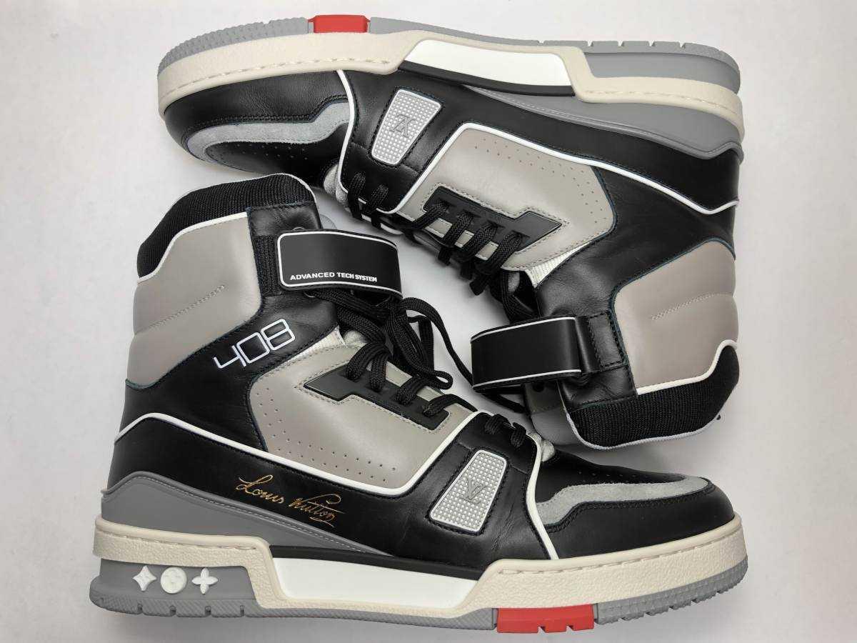 新品 LOUIS VUITTON ルイヴィトン 19ss VIRGIL ABLOH ヴァージルアブロー LVトレイナー ライン スニーカー 8 27cm 1A54IS 靴_画像6