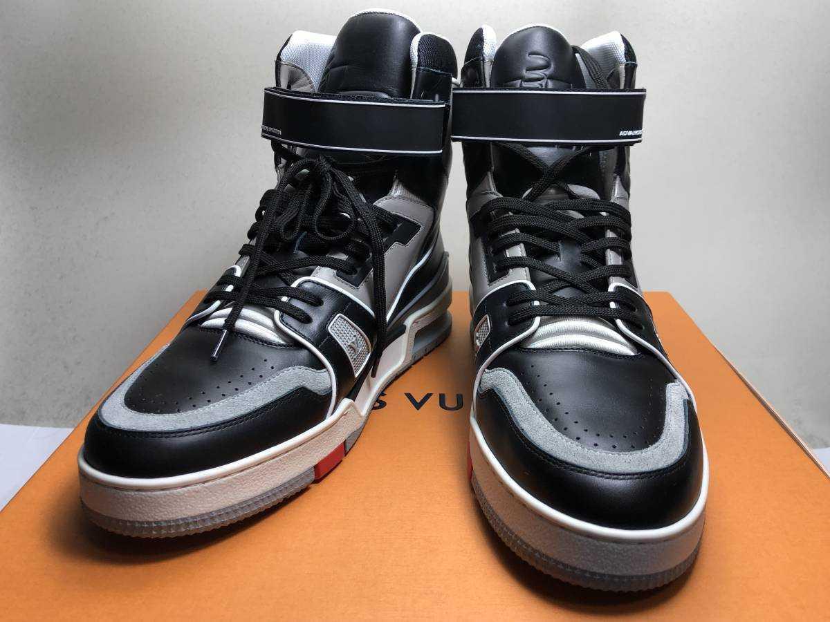 新品 LOUIS VUITTON ルイヴィトン 19ss VIRGIL ABLOH ヴァージルアブロー LVトレイナー ライン スニーカー 8 27cm 1A54IS 靴_画像10