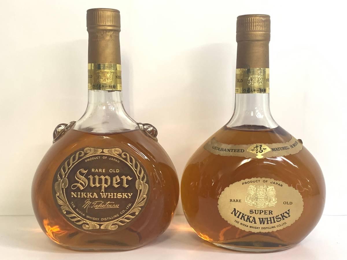 1円~ 未開栓 古酒/洋酒 ニッカ NIKKA スーパー レアオールド 突起ボトル ウイスキー 760ml 2本セット
