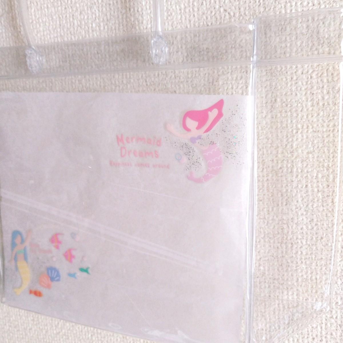 ハンドメイド クリアバッグ ミニトートバッグ マーメイド 【No.1】