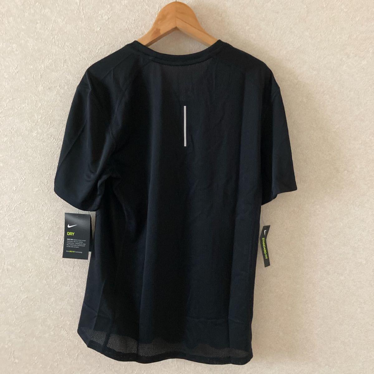 NIKE ナイキ ランニングTシャツ ブラック メンズS