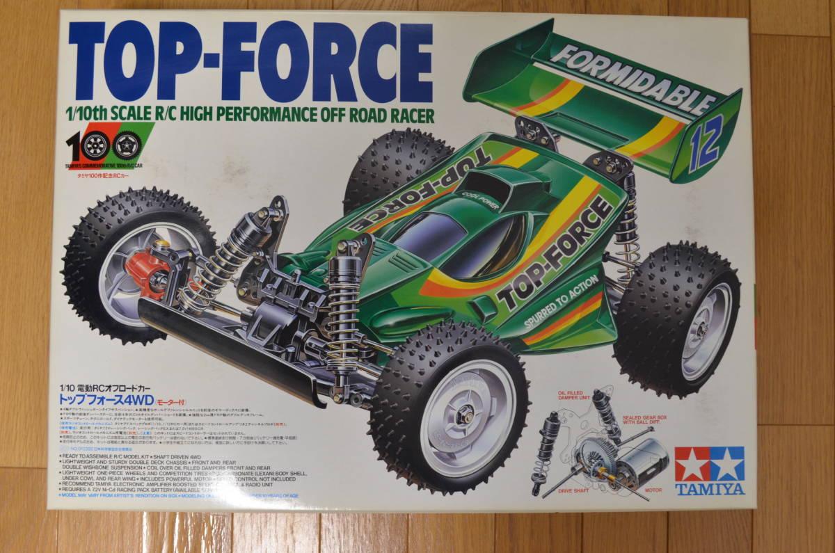 タミヤ 1/10 電動RC トップフォース TAMIYA TOP-FORCE オフロード レーシング バギー 田宮 HIGH PERFORMANCE OFF ROAD RACER 4WD ラジコン