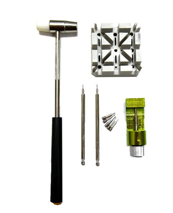 腕時計ベルト調整 工具セット コマ調整  コマ外しサイズ修理 交換キット 腕時計ベルトの調整やサイズ調整に便利な工具セット_画像1