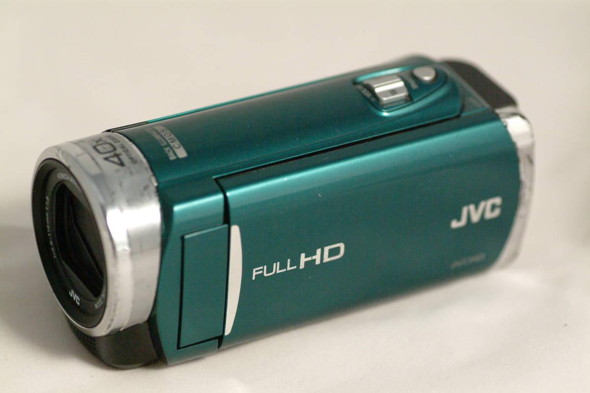 JVC フルHD デジタルビデオカメラ GZ-E117-G エメラルドグリーンきれいな緑色です。バッテリー付きです。