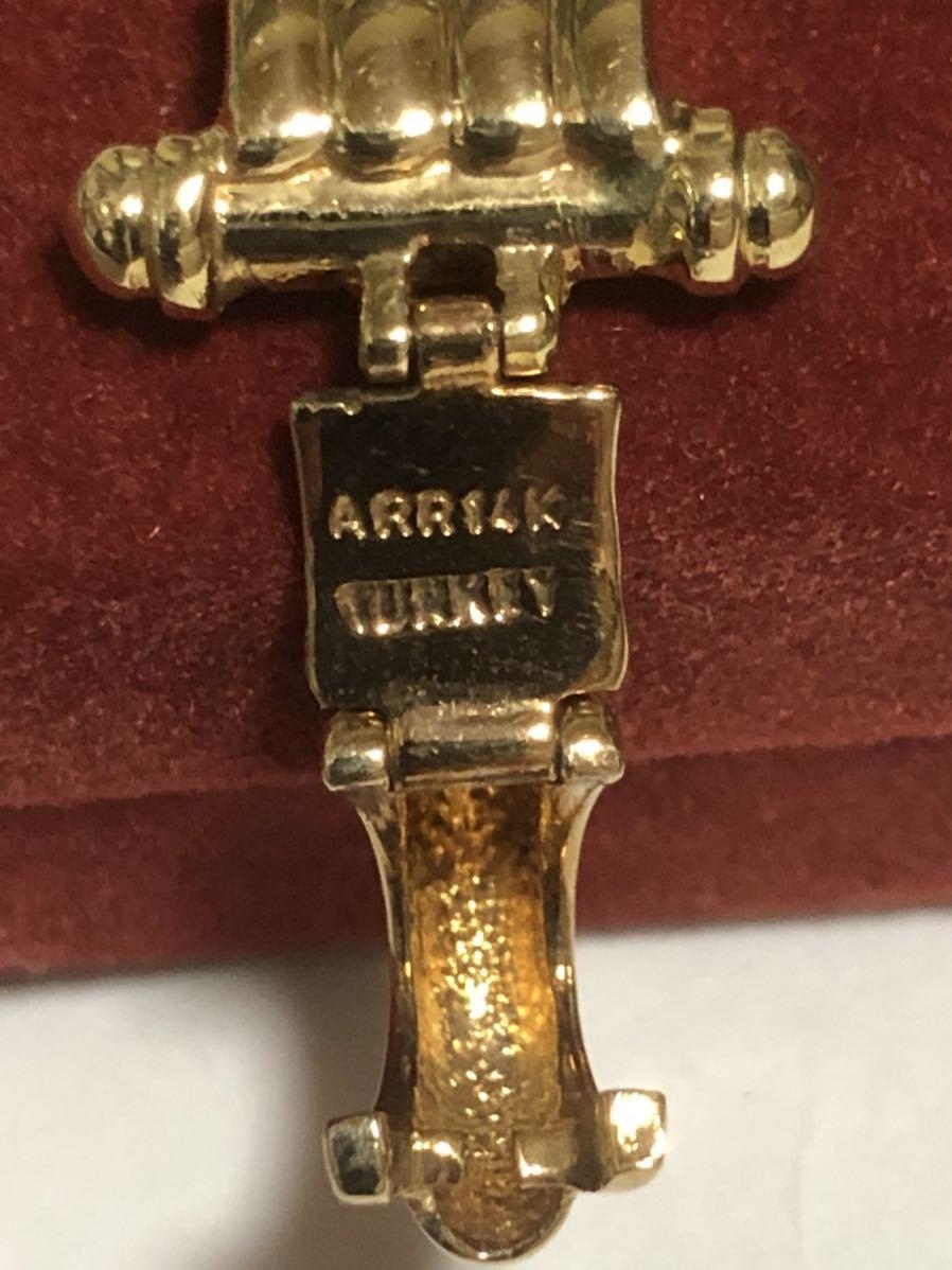 中古 ARR14k turkey ブレスレット 全長約19.5cm_画像2
