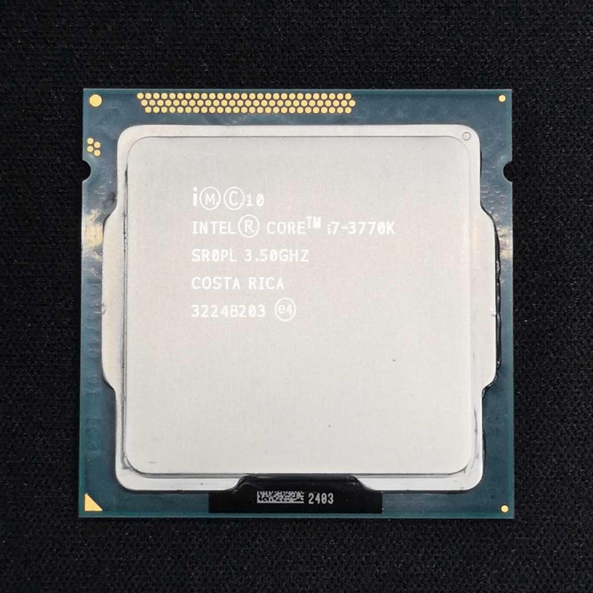 Core i7 3770k/3.5GHz/LGA1155/SR0PL/IvyBridge/中古動作品