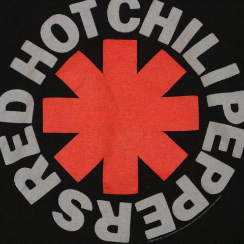00s RED HOT CHILI PEPPERS Tシャツ L ブラック 半袖 ロゴ レッドホットチリペッパーズ レッチリ RHCP オフィシャル バンド ロック_画像3