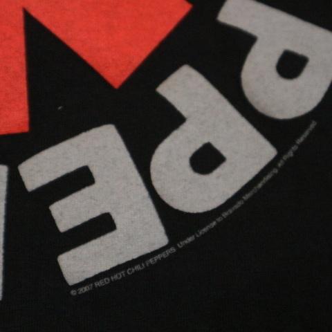 00s RED HOT CHILI PEPPERS Tシャツ L ブラック 半袖 ロゴ レッドホットチリペッパーズ レッチリ RHCP オフィシャル バンド ロック_画像4